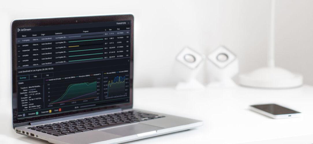 JetStream High-Speed File Transfer Screen